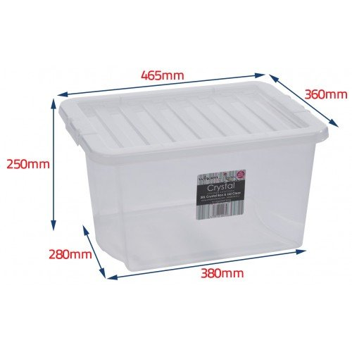 Wham Plastic Storage Boxes - Pack Of 5 (24 Litre)