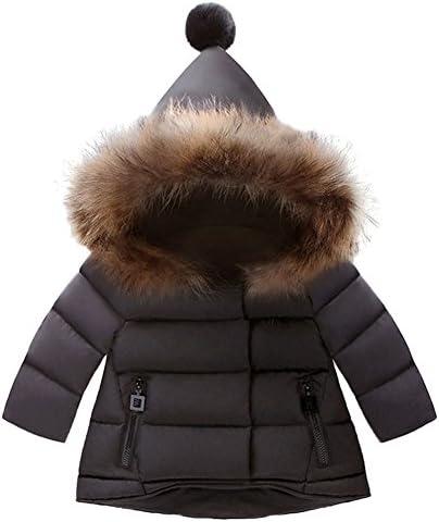 Children Girls Faux Fur Coat Thicken Warm Winter Jacket Outwear Kids Cute Padded