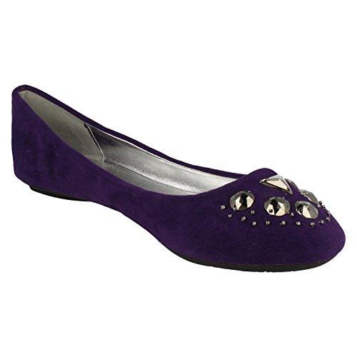 Spot On , Damen Ballerinas Violett