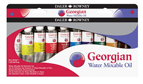 Daler Rowney : Georgian Water Mixable Oil Starter Set : 10 x 37ml