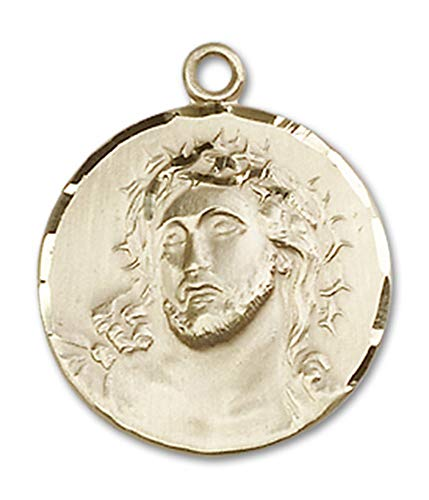 14kt Gold Ecce Homo Medal, Patron Saint 3/4 x 3/4