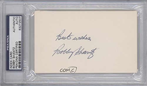 Bobby Shantz PSA/DNA Certified Auto AUTHENTICATED AUTHENTIC (Trading Card) 1900-Present Authenticated Cut Signatures/Photographs - [Base] #BOSH