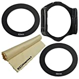 (58MM , 52MM) Adapter Rings & Filter Holder for COKIN P Series System + Super Fine JB Digital Microfiber Lens Cleaning Cloth