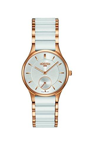 Roamer 677855-49-15-60 Ladies Ceraline White Ceramic Bracelet Watch