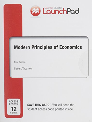 Price comparison product image LaunchPad for Cowen's Modern Principles of Economics (12 month access)