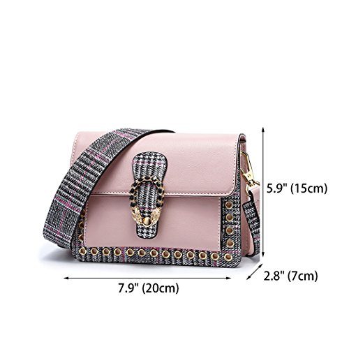 Leather Bags Handbags Top Body Cross Pink Shoulder Handle Bags Faux Bags Women's SEwXI8qS