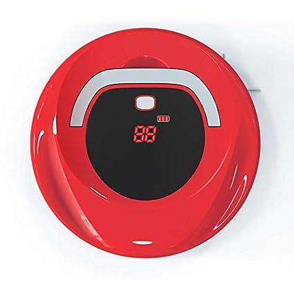MIAO@LONG Robot Aspirador Operación con Un Solo Botón Poderosa Succión Sensor Infrarrojo Anticolisión para