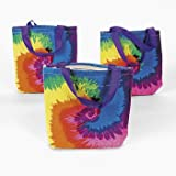 ~ 12 ~ Tie-dye Tote Bags / Gift Bags ~ 8″ X 8″ Canvas ~ NEW, Health Care Stuffs