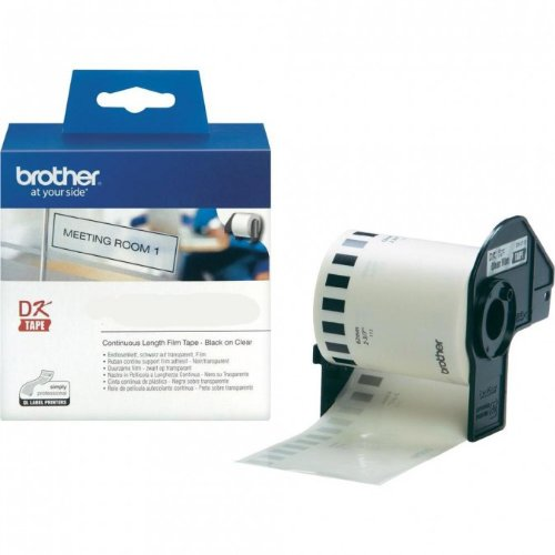 Endlosrolle 62mm P-Touch QL 570 Brother Etiketten Transparent 62 mm x 15, 24 meter, Film, 1 Endlosetikett, DK Label für Ptouch QL570