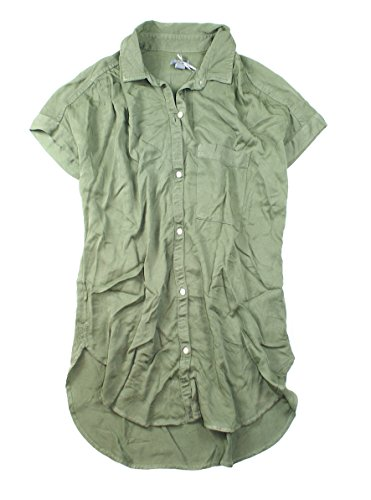 American Eagle aerie Women's Lightweight Button Down Short Sleeve Shirt W-05 (X-Small, (American Eagle Oxfords)