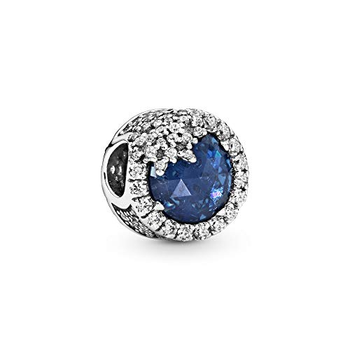 Pandora Jewelry - Dazzling Snowflake Charm in Sterling Silver with Twilight Blue Crystals and Clear Cubic Zirconia