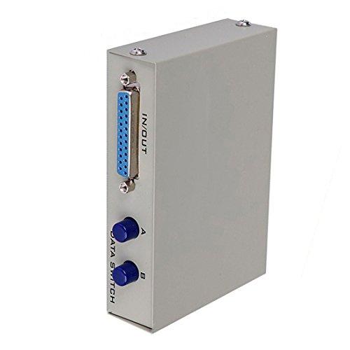- Saim 2 Port 25 Pin DB-25 Manual Parallel Printer Sharing Switch Box