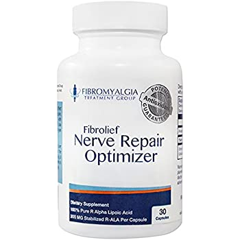 All-Natural Nerve Repair Optimizer with Stabilized R-Lipoic Acid - Absorbs Fast - Safe for Fibromyalgia- Alternative Nerve Pain Treatment - One Month Supply (30 Count)
