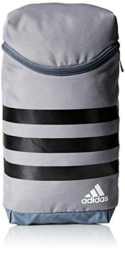 adidas Golf 3-Stripes Golf Shoe Bag, Grey/Black/White, One Size
