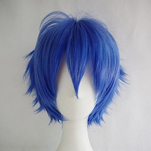 [S-noilite Unisex Cosplay Short Straight Hair Wig Women Men Anime Comic Con Party Dress Wigs Dark] (Comic Con Costumes For Females)