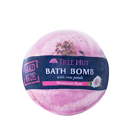 Tree Hut Shea Moisturizing Bath Bomb, Moroccan Rose, 7.5 Ounce