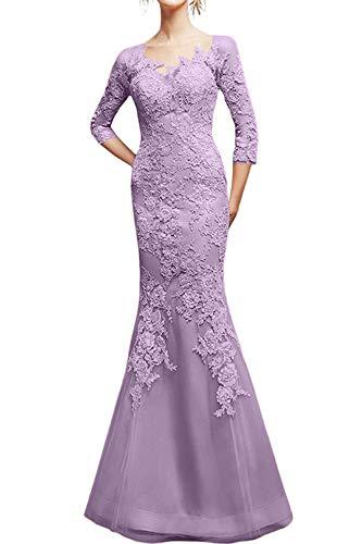 2019 Spitze Schnitt Braut Schmaler Marie Ballkleider Rosa Damen Abendkleider La Partykleider Figurbetont Flieder IpPSRwqI