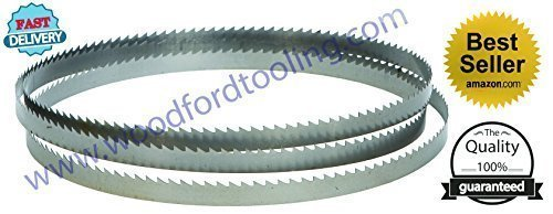 72-Inch Carbon Tool Steel Bandsaw Blades for 10'' Delta 28-140, 10'' Wen, Draper BS250A, Sealey SM1304, Clarke CBS250, Warco BS250, METABO BAS260 11'' Shopsmith (72'' x 1/4'' wide x 6 Tpi.)