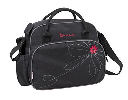 Badabulle B043013 Vintage Wickeltasche, schwarz/pink