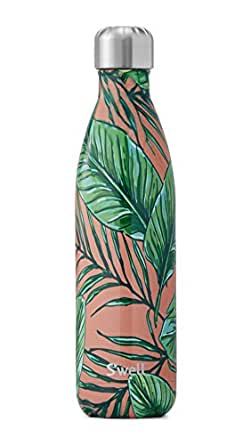 S'well Vacuum Insulated Stainless Steel Water Bottle, Double Wall, 25 oz, Palm Beach