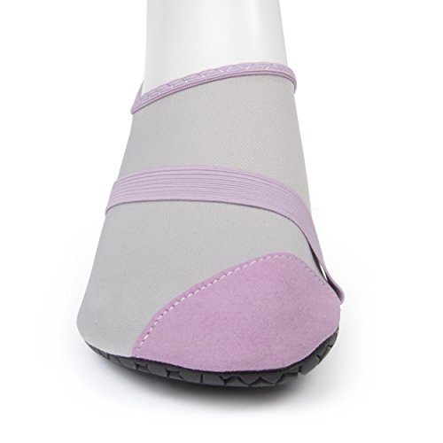 Fitkicks Flexibele Flats Voor Dames - Actief Lifestyle-schoeisel - Voor Comfort En Hoge Hielreliëf Grijs / Lavendel