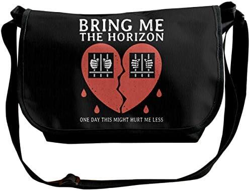 ショルダーバッグ スポーツバッグ ワンショルダー ブリング ミー ザ ホライゾン メッセンジャーバッグ 斜めがけ ボディバッグ 肩掛けバック 大容量 A4ファイル収納可能 多機能 日常お出かけ 通勤 通学 無地 メンズ カバン ユニセックス
