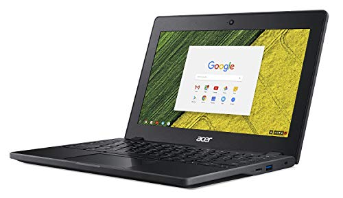 "Acer Chromebook 11 C771-C4TM, Intel Celeron 3855U, 11.6"" HD IPS Display, 4GB LPDDR3, 32GB eMMC, 802.11ac WiFi, Spill Resistant Keyboard, Military Grade Durability, Google Chrome,Black"