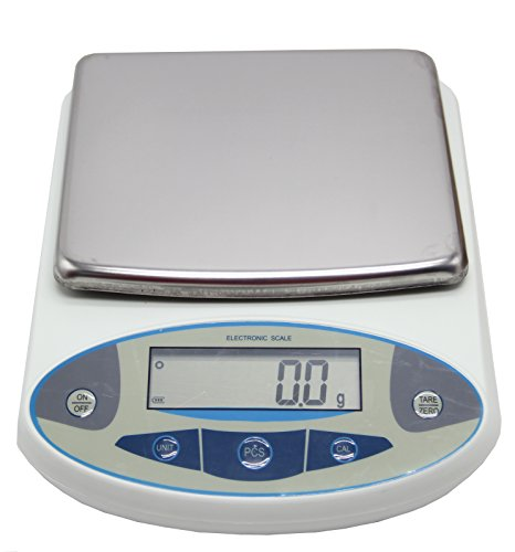 BAOSHISHAN 5kg/0.1g Analytical Electronic Balance Lab Digital Balance Scale High Precision Balances Jewelry Scales Kitchen Precision Weighing Pan Size=180x160mm (0.1g, 5kg)