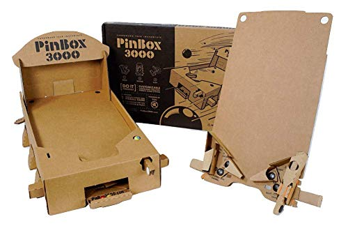 Set of 2 PinBox 3000 DIY Customizable Cardboard Make Your Own Pinball Machine Kit with No Tool Assembly by Cardboard Teck Instantute (Image #3)