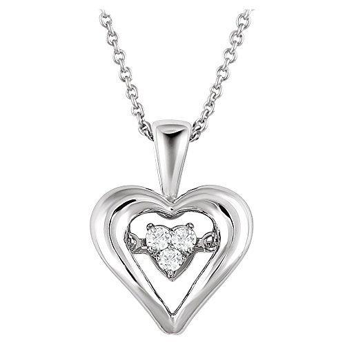 Bonyak Jewelry Sterling Silver 1/10 CTW Diamond Heart...