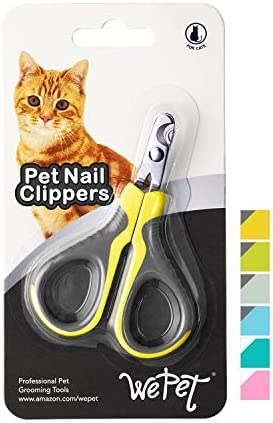 WePet Pet Nail Clippers, Professional Claw Trimmer, Scissor for Cats, Dogs, Puppies, Kittens, Hamsters, Rabbits and Small Animals, Sharp, Safe