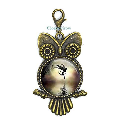 Cioaqpyirow Flower Fairy Lobster Clasp,Faerie,Fairy Princess Natural Jewelry,My Bridesmaid,Bridesmaid Proposal,Friend Owl Zipper Pull,HO0E362]()