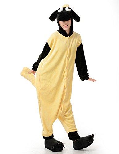 [OSEPE Unisex Adult Pajamas One Piece Cosplay Animal Costume Sheep SizeL] (Male Sheep Costume)
