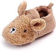 Sawimlgy Infant Baby Boys Girls Cute Cartoon Slippers Warm Cotton Socks Anti Slip Soft Sole House Moccasins Newborn First Cr