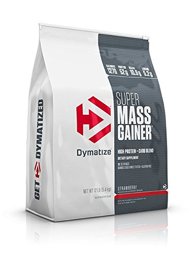 Dymatize Super Mass Gainer Protein Powder with 1280 Calories Per Serving, Gain Strength & Size Quickly, Strawberry, 12 lbs by Dymatize (Image #1)