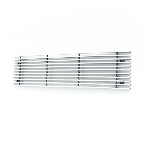Paramount Restyling 38-0179 Overlay Billet Bumper Grille with 4 mm Horizontal Bars, 1 Piece - Grille Overlay 4 Piece
