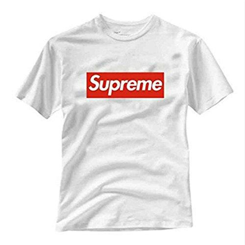 taglia 40 0bffa 56335 DhoomBros Supreme Box Logo T-Shirt (Youth Large/ 14-16 yrs, White)