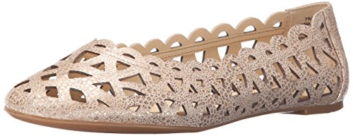 Ballerina Mazzota Metallizzata Nove West Womens Flat Light Naturale