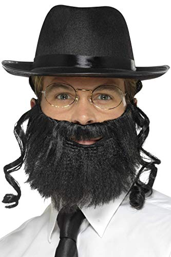 Smiffy Jewish Rabbi Costume Kit Accessory Kit Hat Beard Glasses]()