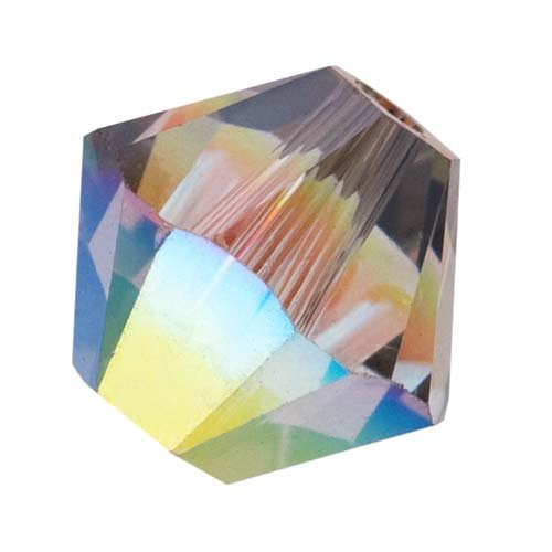 Faceted Swarovski Crystal Satin (Swarovski Crystal, #5328 Bicone Beads 4mm, 24 Pieces, Crystal AB Satin)