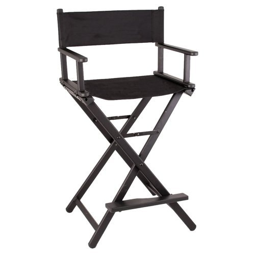 Sunrise JL009AB 29'' Black Aluminum Director Chair