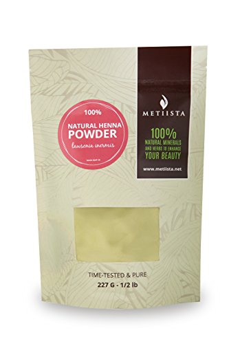 100% pure Natural Henna Powder (Lawsonia Inermis) 1/2 LB- ORGANICALLY GROWN -NEW! Resealable packaging