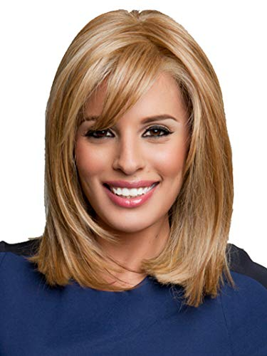 GNIMEGIL Fashion Long Golden Blonde Bob Wigs Goldilocks Hair Replacement Wig in Synthetic Fiber Daily Wear Full Wigs for Women Halloween Cosplay -