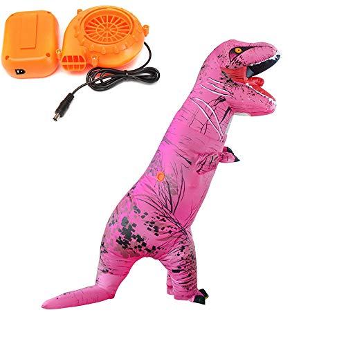 Autek Jurassic World Inflatable Dinosaur Costume for Unisex Adults Pink]()