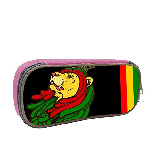 SsSEYYA Jamaican Lion Red Yellow Green Pencil Bag Makeup Pen Pencil Case Big Capacity Pouch Durable Students Stationery with Double Zipper Pen Holder for School/Office (Sonnenbrille, Make-up)