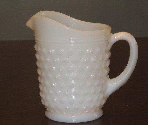 Hobnail Milk Glass Pitcher ()