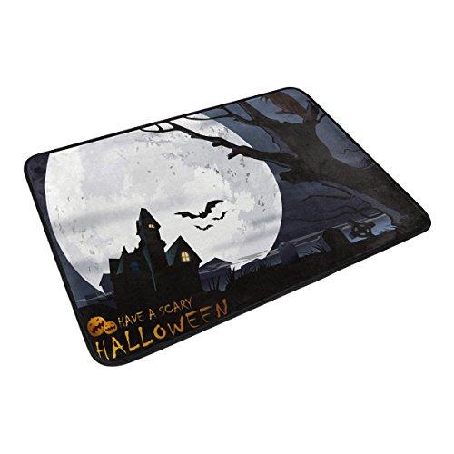 Happy Halloween Home Decor Non-slip Doormat Floor Door Mat Indoor Outdoor Bathroom Mat 23.6 x 15.7 (Welcome Mat Halloween Costume)