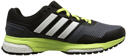 adidas Response Boost 2, Women's Running Shoes Gris (Onix/Silver Metallic/Frozen Yellow F15)