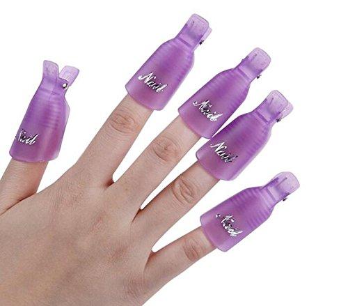 158 opinioni per Plastica Nail Art impregna fuori Cap clip polacco UV del gel di rimozione Wrap