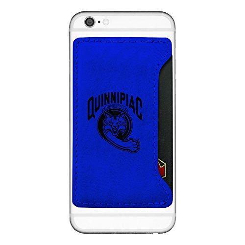Quinnipiac University -Cell Phone Card Holder-Blue